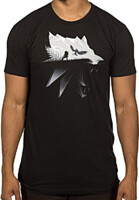 Tričko Zaklínač - Silhouette (americká vel. S / evropská M)