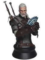 Figurka Zaklínač 3 - Geralt hraje Gwint Busta (Dark Horse)