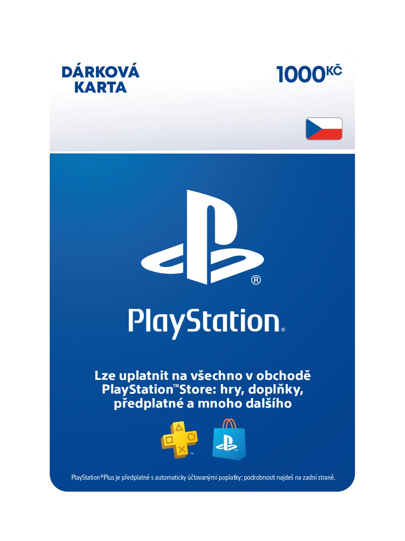 PlayStation Store - Naplnění peněženky 1000 Kč (PS DIGITAL) (PS4)