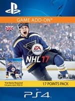 1050 NHL 17 Points Pack - předplacená karta (PS4 DIGITAL)