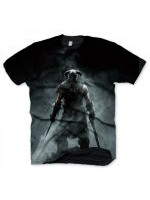 Tričko The Elder Scrolls V: Skyrim - Dragonborn (velikost XL)