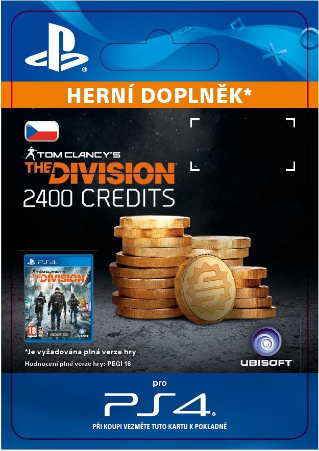 The Division - 2400 Premium Credits Pack (PS4 DIGITAL)