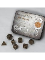 Set hracích kostek Metal Dice Set - Antique Silver