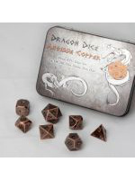 Set hracích kostek Metal Dice Set - Antigue Copper