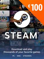 Steam - Naplnění peněženky 100 EUR