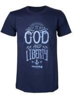 Tričko Uncharted 4 - God and Liberty (velikost M)