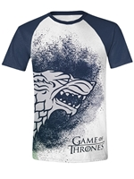 Tričko Game of Thrones - Painted Stark Raglan (velikost M)