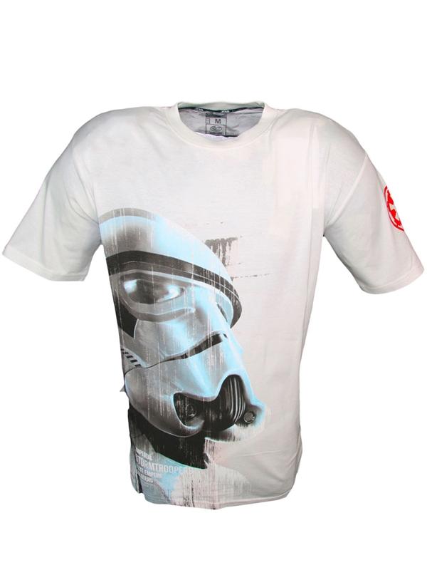 Tričko Star Wars - Imperial Stormtrooper, Bílé (velikost L)