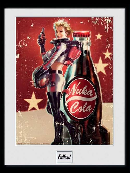 Zarámovaný plakát Fallout - Nuka Cola (PC)