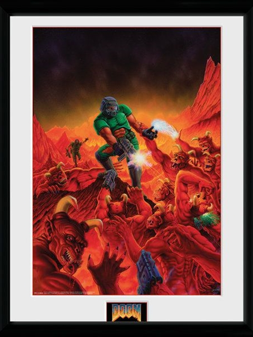 Zarámovaný plakát Doom - Classic Theme