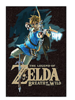 Plakát Legend of Zelda Breath of the Wild - Link