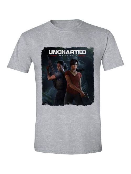 Tričko Uncharted: The Lost Legacy - Cover (velikost XL) (PC)