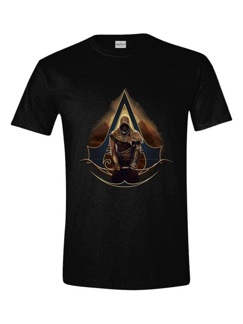 Tričko Assassins Creed: Origins - Bayek and Pyramids (velikost M) (PC)