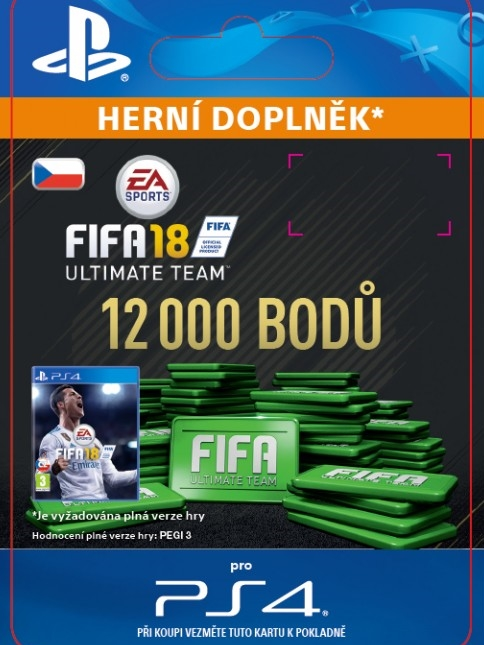 12000 FIFA 18 Points Pack - předplacená karta (PS4 DIGITAL)