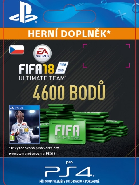 4600 FIFA 18 Points Pack - předplacená karta (PS4 DIGITAL)