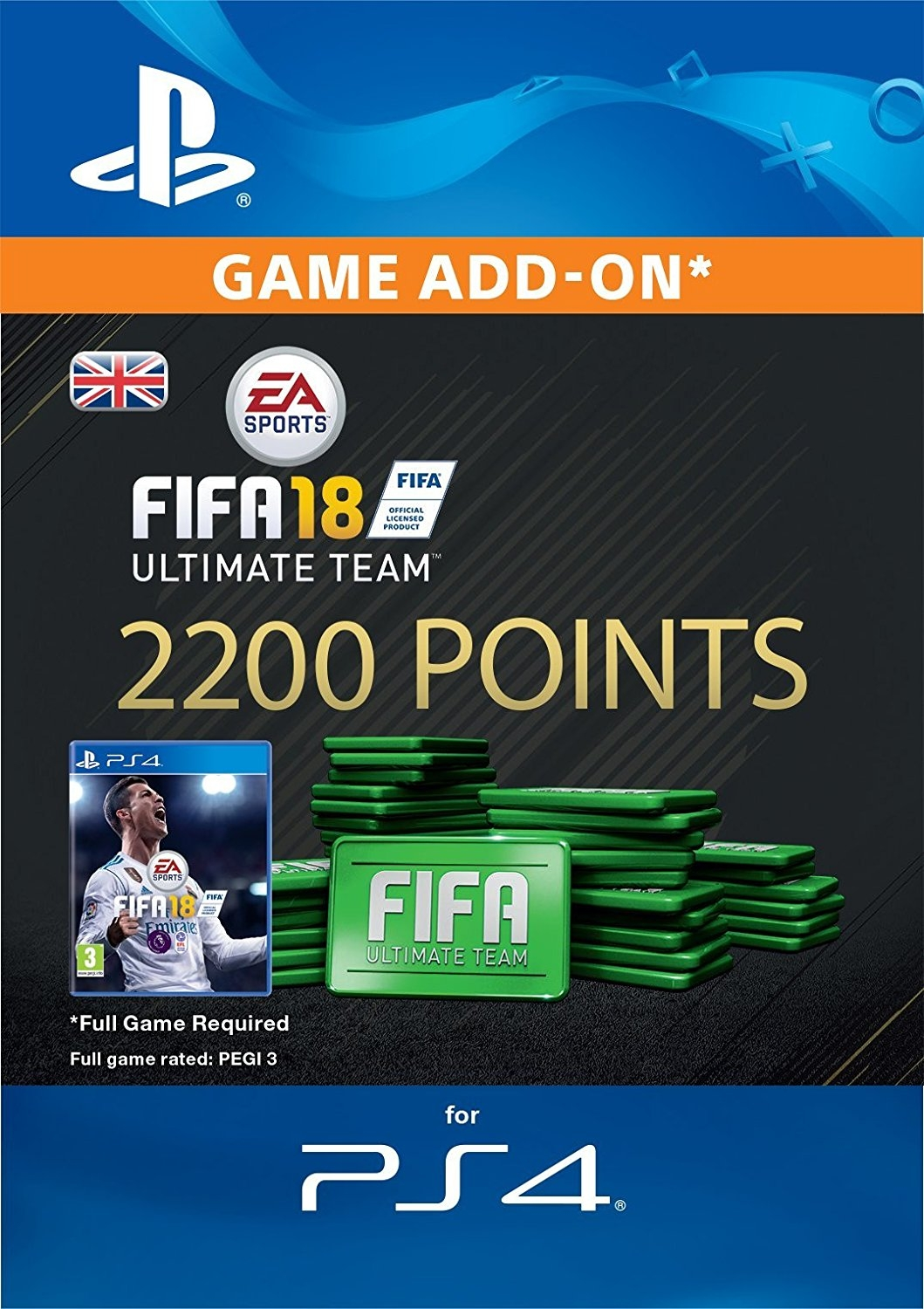 2200 FIFA 18 Points Pack - předplacená karta (PS4 DIGITAL)