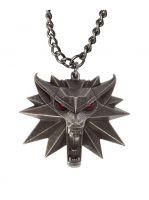 Medailon na krk Zaklínač 3 - Vlk (svítící oči)