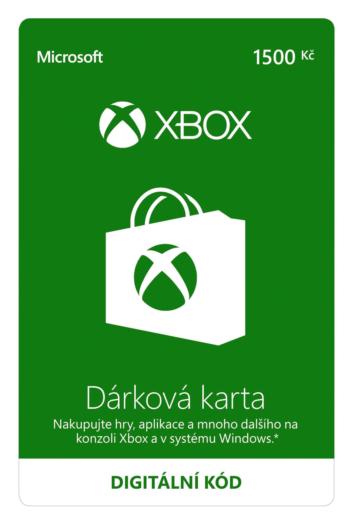 Dárková karta Xbox 1500 Kč (XONE DIGITAL)