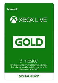 Zlaté členství Xbox Live Gold - 3 měsíce (XONE DIGITAL)