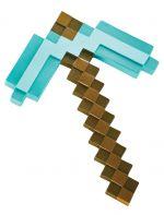 Replika zbraně Minecraft - Diamond Pickaxe 40 cm