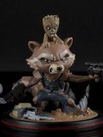 Figurka Guardians of the Galaxy - Rocket & Groot (Q-Fig, 14 cm)