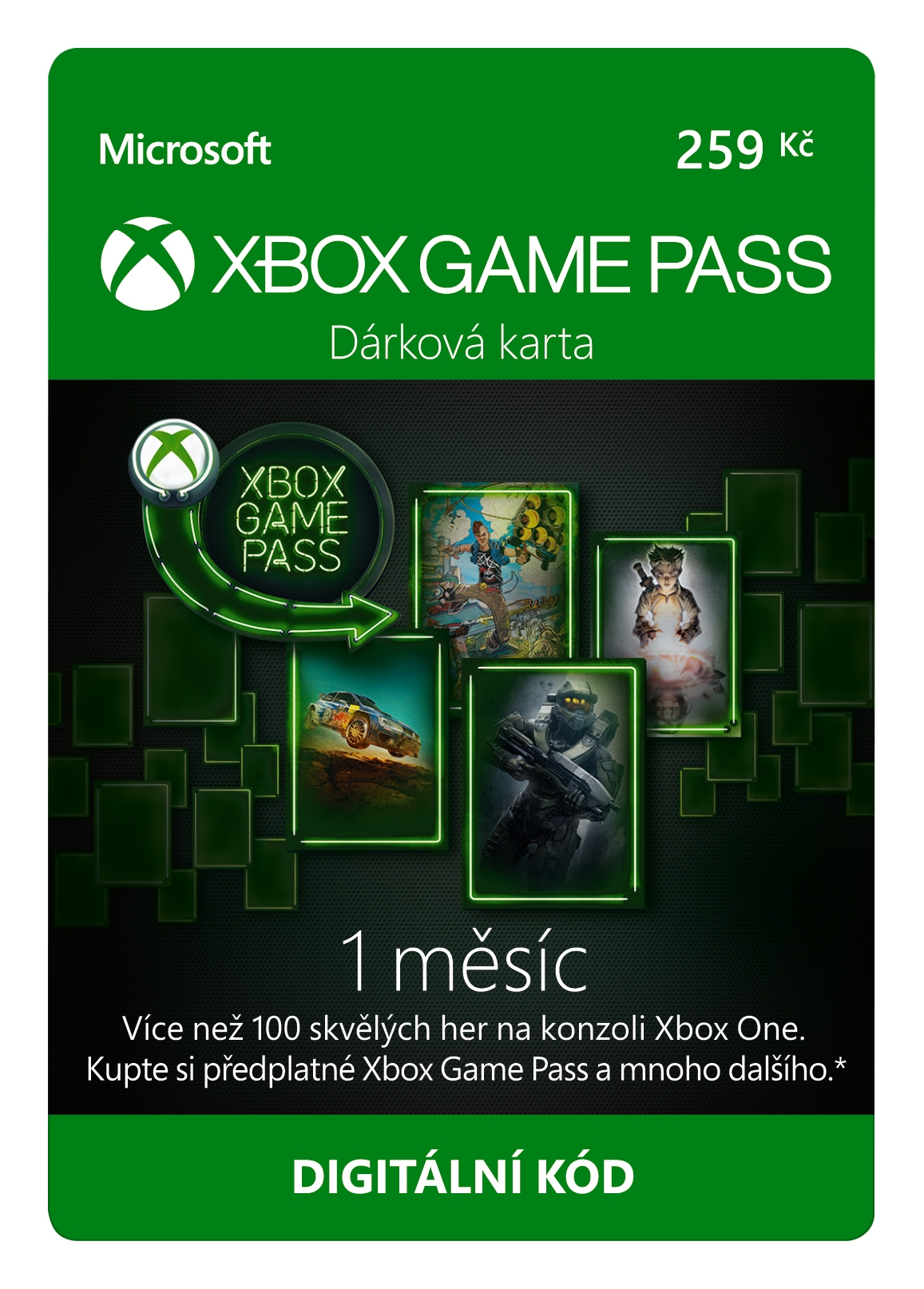 Xbox Game Pass předplatné na 1 měsíc (XONE DIGITAL)