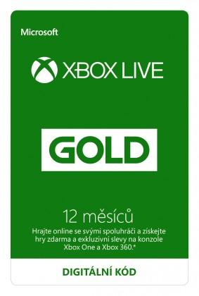 Zlaté členství Xbox Live Gold - 12 měsíců (Evropa) (XONE DIGITAL)