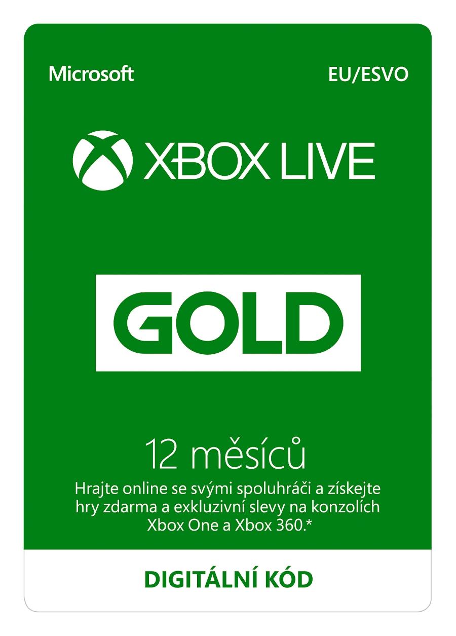 Zlaté členství Xbox Live Gold - 12 měsíců (Evropa) (XONE DIGITAL) (XONE)