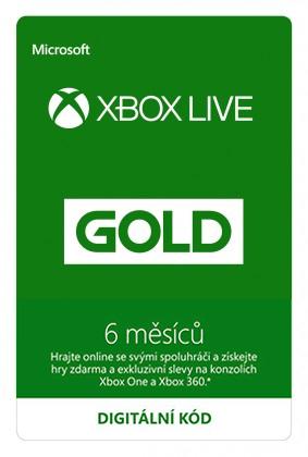 Zlaté členství Xbox Live Gold - 6 měsíců (Evropa) (XONE DIGITAL)