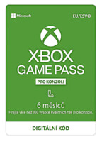 Xbox Game Pass předplatné na 6 měsíců (XONE DIGITAL)