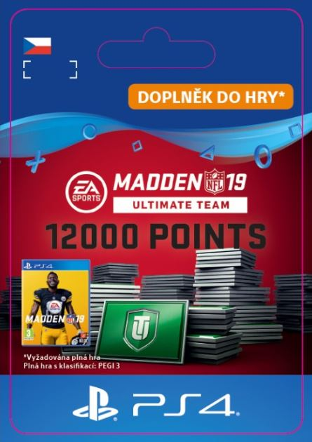 Madden NFL 19 Ultimate Team 12000 Points Pack (PS4 DIGITAL) (PS4)
