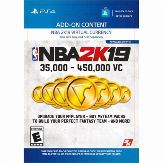 NBA 2K19 - 450,000 VC (PS4 DIGITAL)