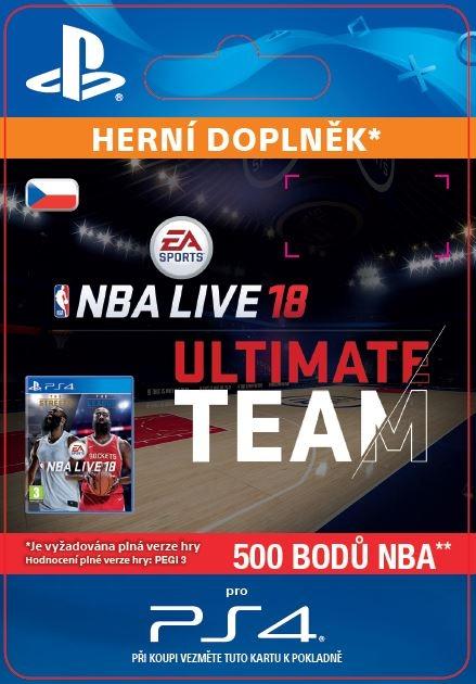 EA Sports NBA LIVE 18 ULTIMATE TEAM - 500 NBA POINTS (PS4 DIGITAL)