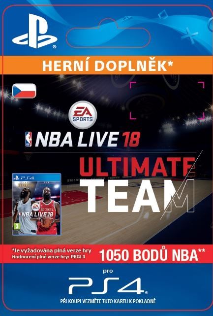 EA Sports NBA LIVE 18 ULTIMATE TEAM - 1050 NBA POINTS (PS4 DIGITAL)