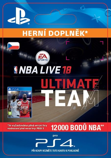 EA Sports NBA LIVE 18 ULTIMATE TEAM - 12000 NBA POINTS (PS4 DIGITAL)