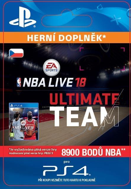 EA Sports NBA LIVE 18 ULTIMATE TEAM - 8900 NBA POINTS (PS4 DIGITAL)