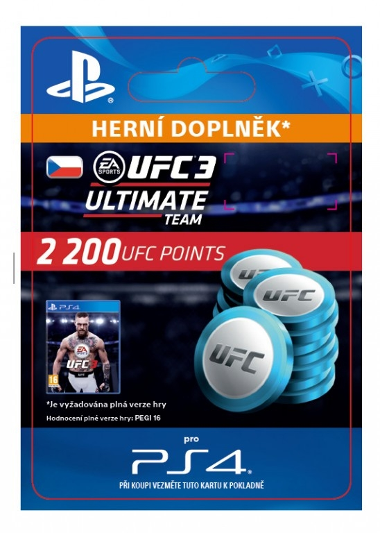 EA Sports UFC 3 - 2200 UFC POINTS (PS4 DIGITAL)