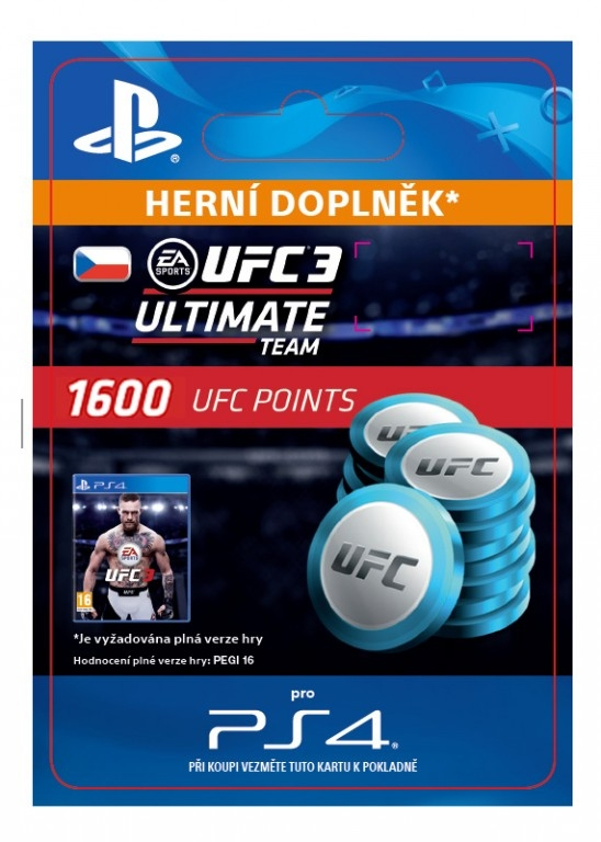 EA Sports UFC 3 - 1600 UFC POINTS (PS4 DIGITAL)