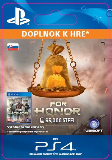 For Honor 65 000 STEEL Credits Pack (PS4 DIGITAL) (PS4)