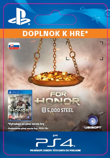 For Honor 5 000 STEEL Credits Pack (PS4 DIGITAL) (PS4)
