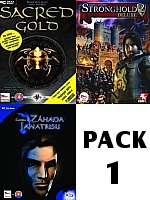 Pack 1: Sacred GOLD + Stronghold 2 Deluxe + Gooka 2 (PC)