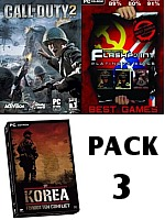 Pack 3: Call of Duty 2 + Operation Flashpoint Platinum + Korea (PC)
