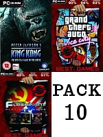 Pack 10: King Kong + GTA Vice City + Operation Flashpoint Platinum (PC)