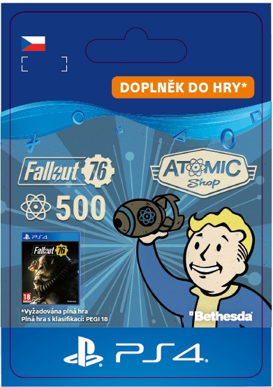 Fallout 76: 500 Atoms (PS4 DIGITAL)