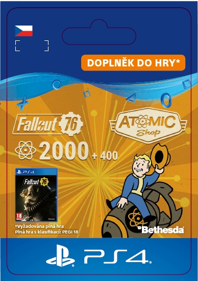 Fallout 76: 2000 (+400 Bonus) Atoms (PS4 DIGITAL)