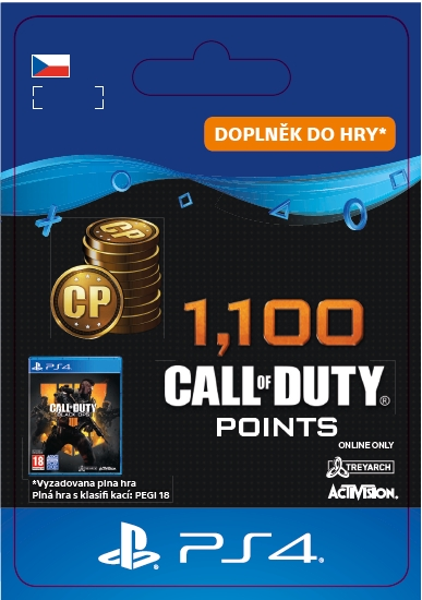 Call of Duty: Black Ops 4 - 1000 + 100 points (PS4 DIGITAL)