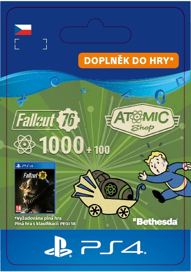 Fallout 76: 1000 (+100 Bonus) Atoms (PS4 DIGITAL)