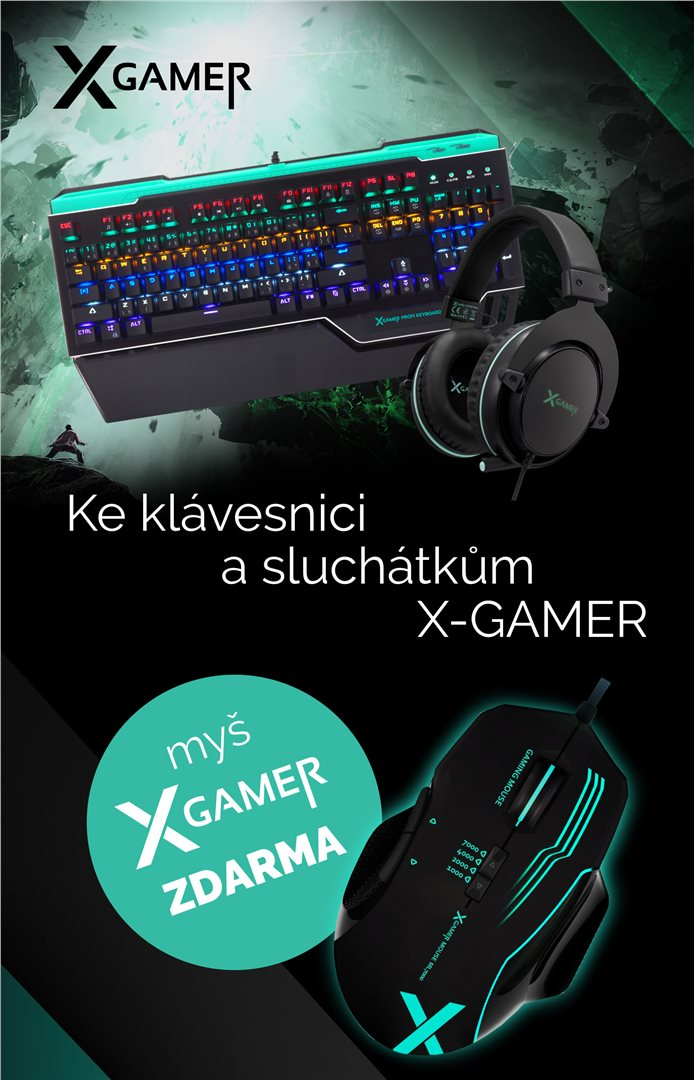 Set X-Gamer - klávesnice + myš + headset (PC)