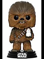 Figurka Star Wars - Chewbacca with Porg (Funko POP! Bobble-Head)