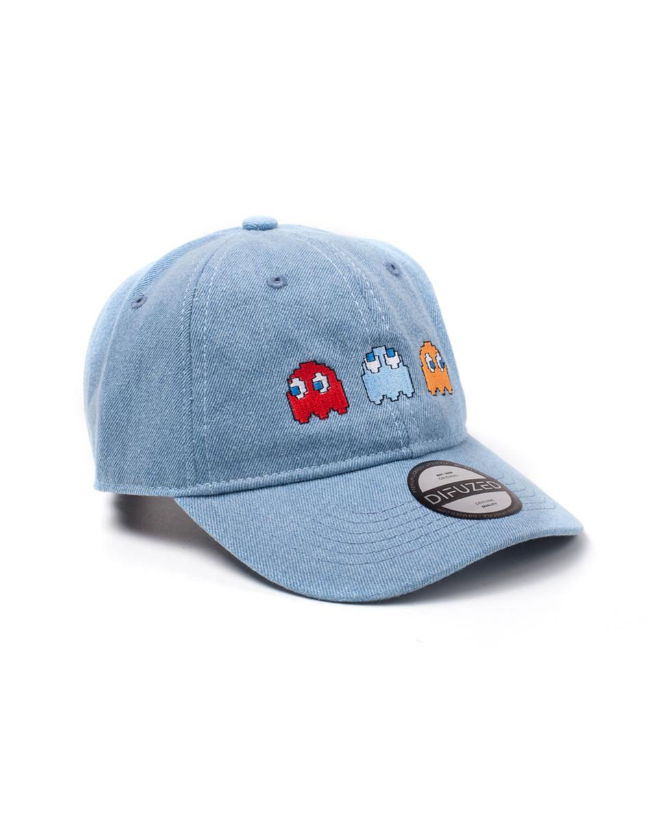 Kšiltovka Pac-Man - 2D Embroidery Stone Washed Denim (PC)